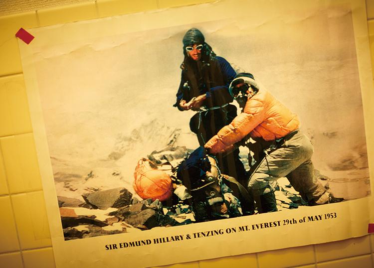 山岳コンサルタント/イッテQ!登山部顧問 貫田宗男さん オフィス壁面の写真