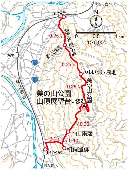 美の山(蓑山)マップ