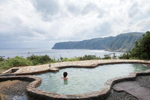 八丈富士 絶景の露天風呂「みはらしの湯」