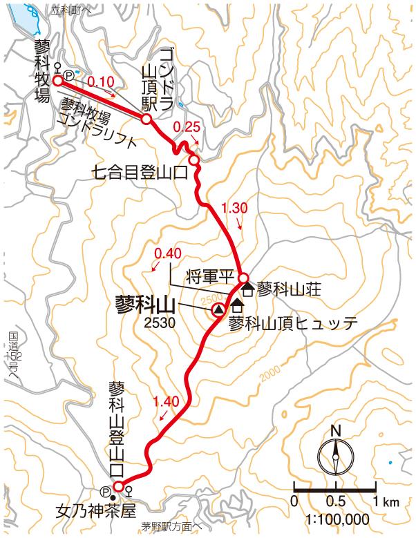 蓼科山マップ