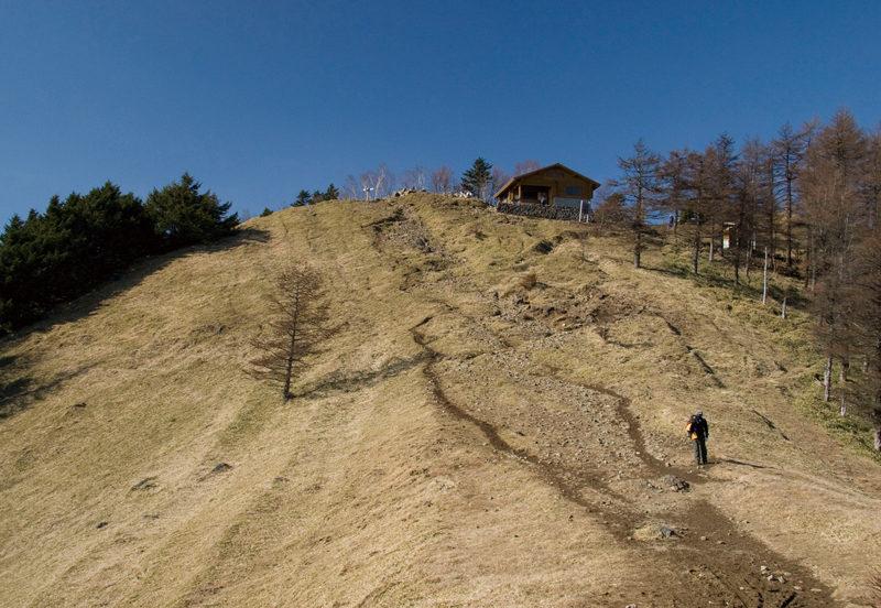 雲取山 山頂をまえに最後の登り