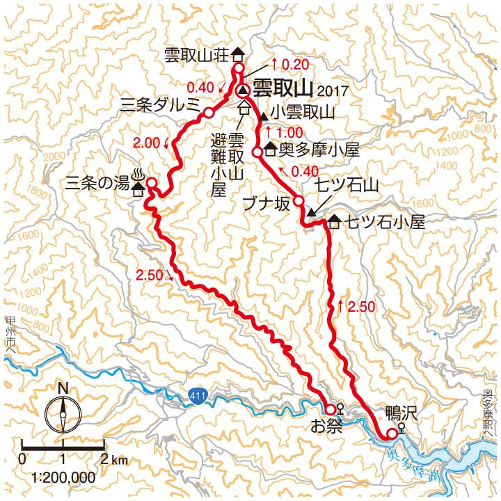 雲取山マップ