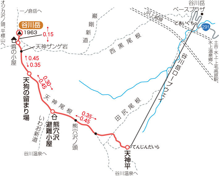 谷川岳マップ