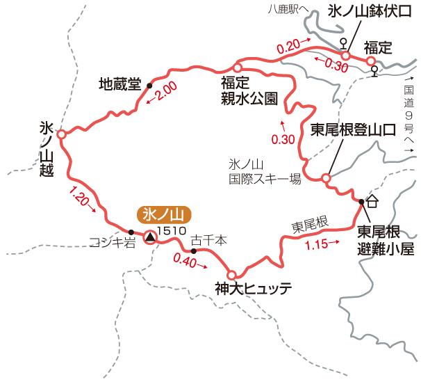 氷ノ山マップ