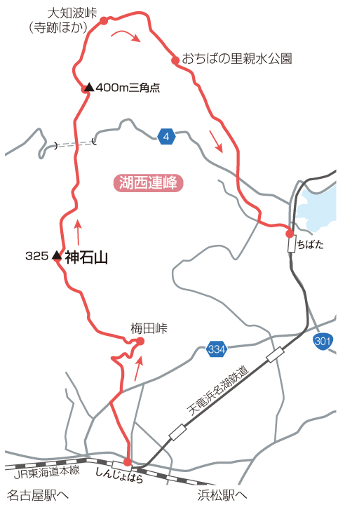 湖西連峰マップ