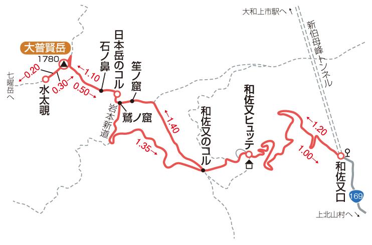 大普賢岳マップ