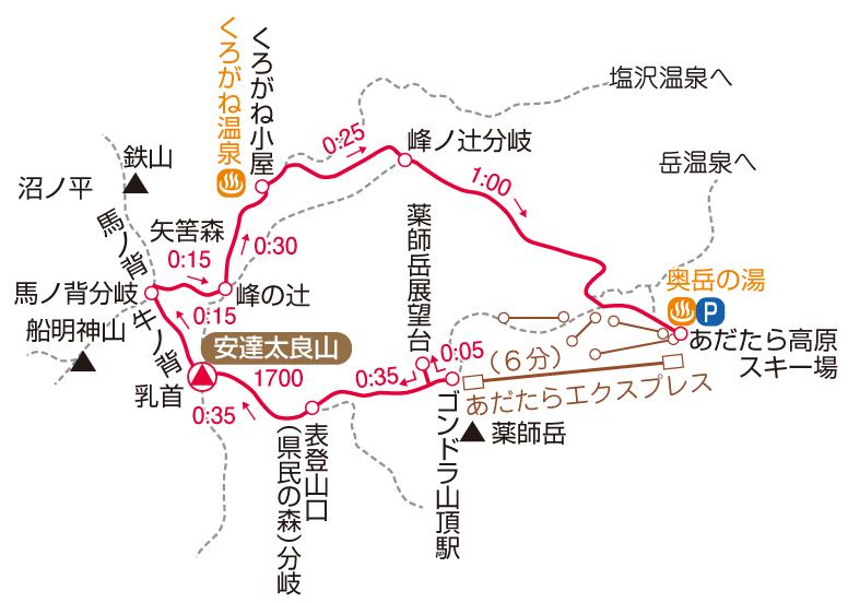 安達太良山マップ