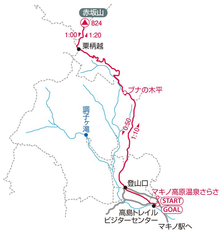 赤坂山マップ