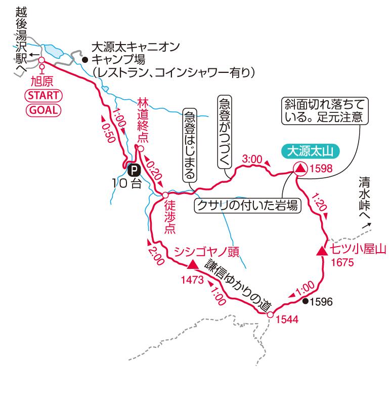 大源太山マップ