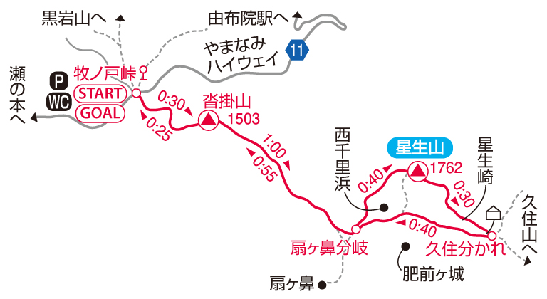 星生山マップ