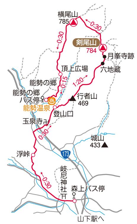 剣尾山マップ