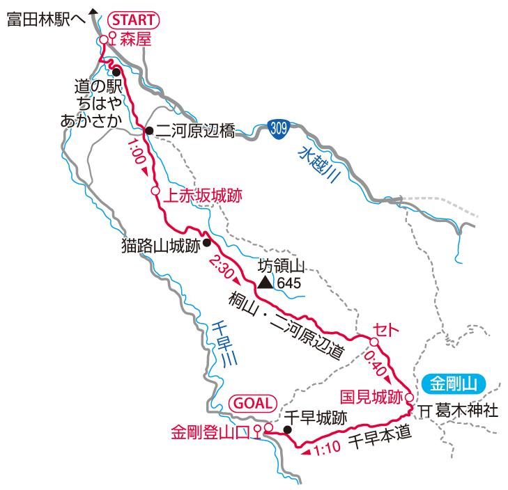 金剛山マップ