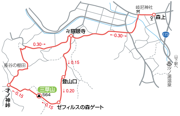 三草山マップ