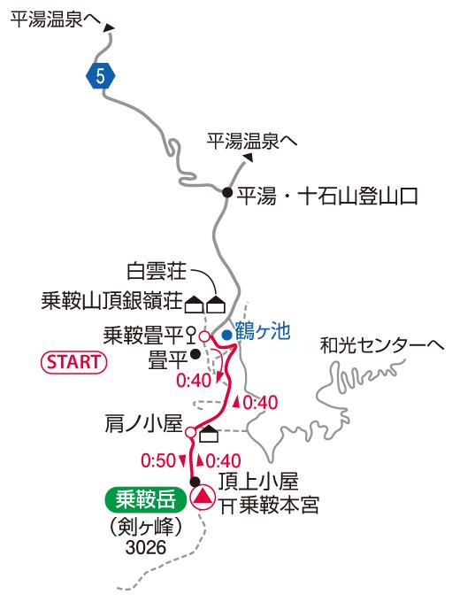 乗鞍岳マップ