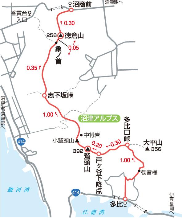 沼津アルプスマップ