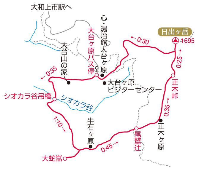 大台ヶ原マップ