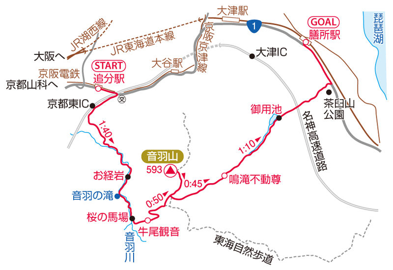 音羽山マップ