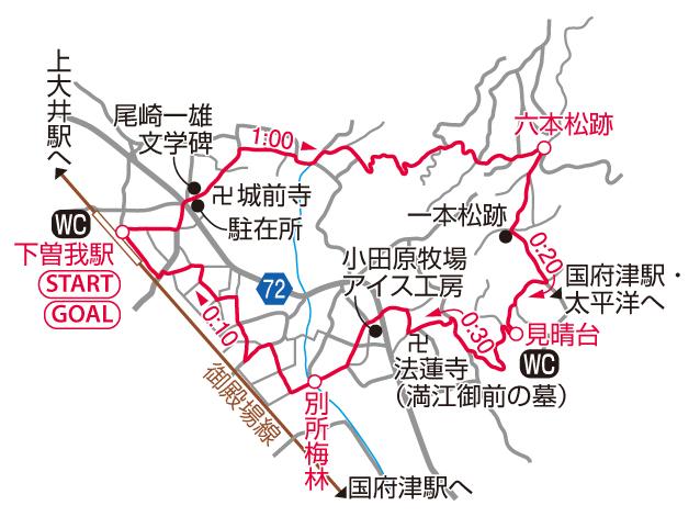 曽我丘陵マップ