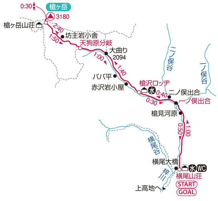 槍ヶ岳マップ