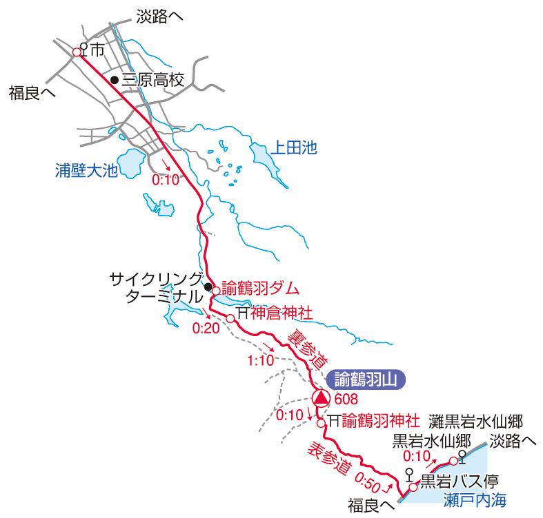 諭鶴羽山マップ