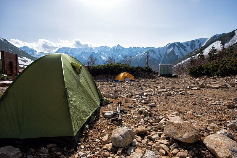 登山のテント場