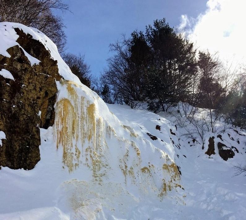 磐梯山のイエローフォール