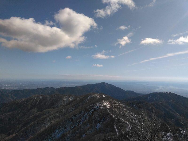 丹沢・塔ノ岳山頂からの眺め