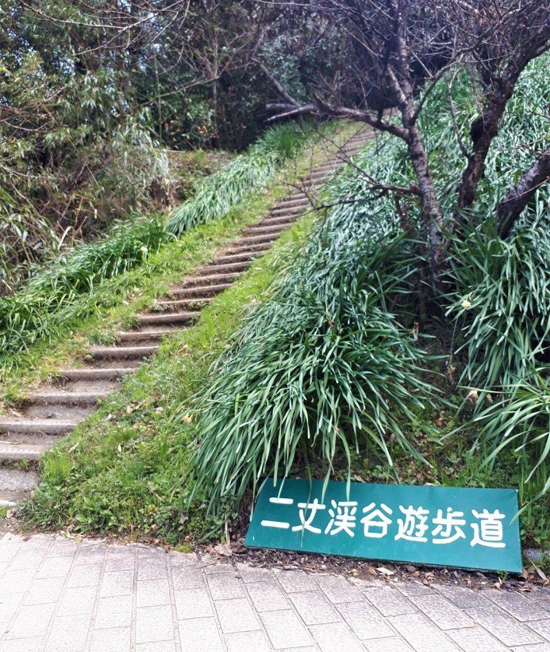 二条岳 登山口 二条渓谷遊歩道