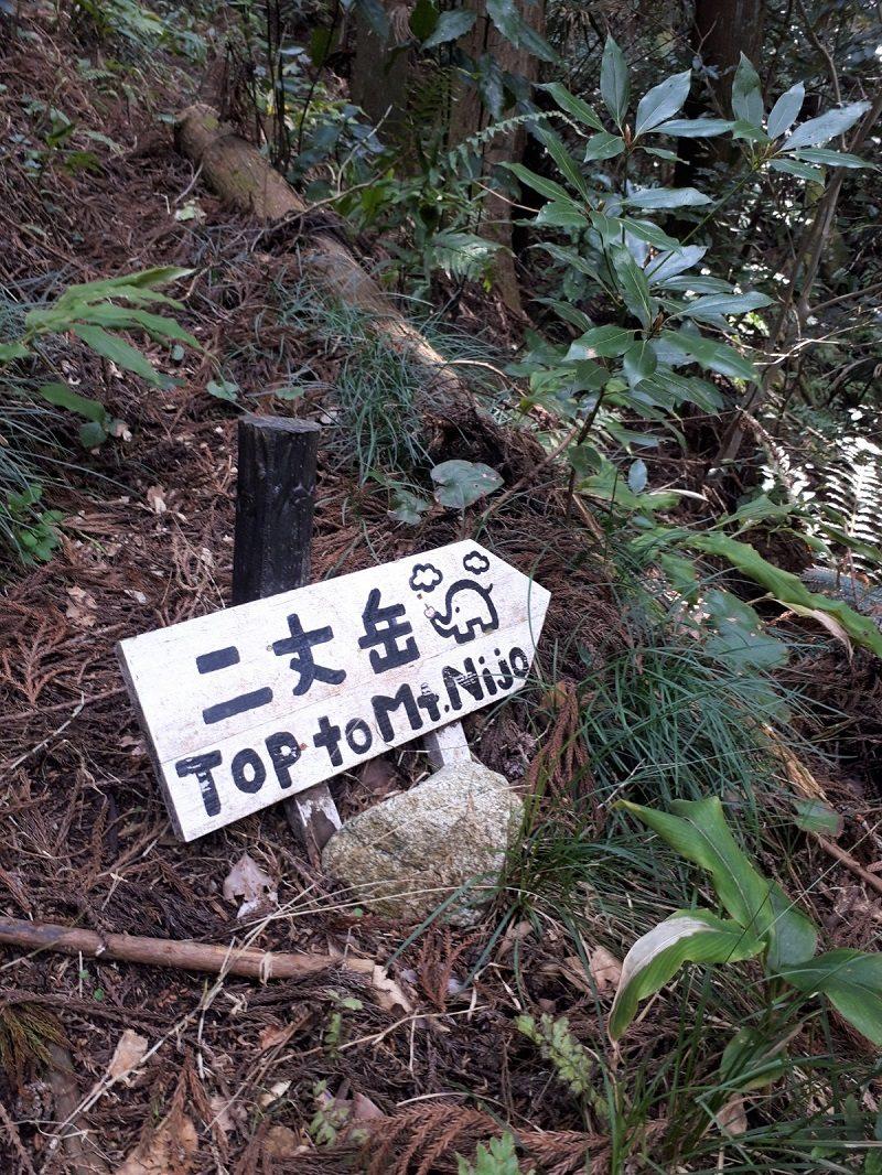 二条岳 標識