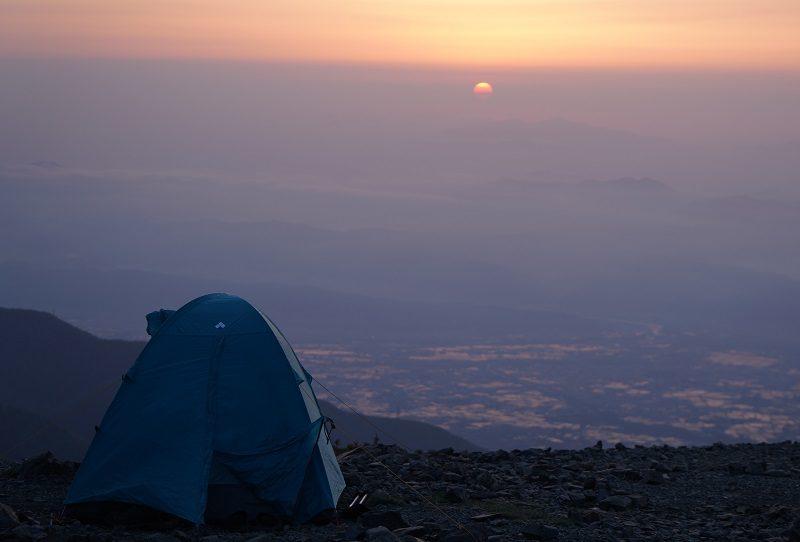 初めてのテント泊風景
