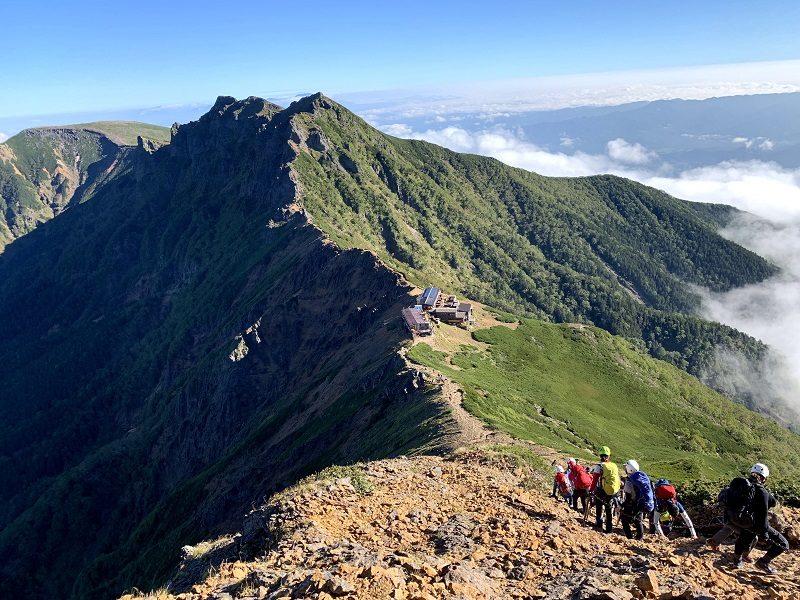 赤岳~横岳方面