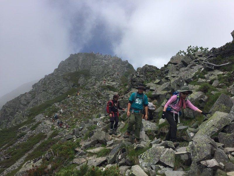 グループ登山 状況判断
