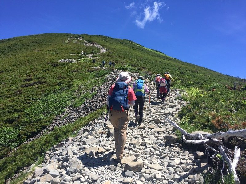 グループ登山 歩くペース